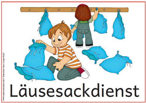 Ordnungsdienst klassenzimmer  tagestransparenzsymbole-dienste-2012 - Zaubereinmaleins - DesignBlog