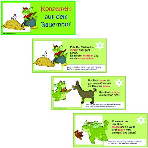 Klassenregeln Grundschule Bildkarten ~ 14 Kärtchen mit einfachen Sätzen, in denen die Verben im Infinitiv