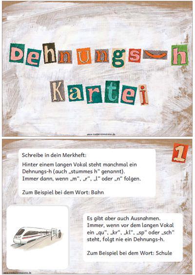 kartei-zum-dehnungs-h - Zaubereinmaleins - DesignBlog