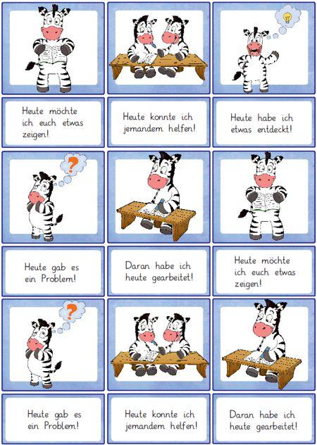 Klassenregeln Grundschule Bildkarten ~ reflexionskartenzebra  Zaubereinmaleins  DesignBlog