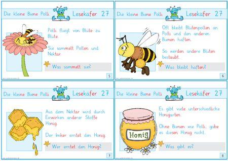 Lesekaefer 27 Die Kleine Biene Polli Zaubereinmaleins Designblog