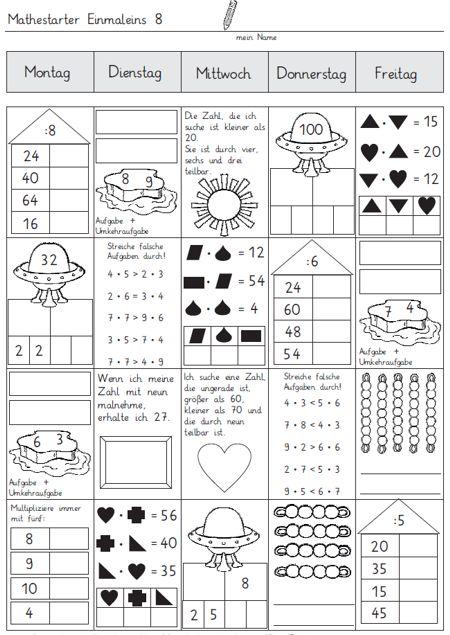 mathestarter 1x1 woche 7 und 8 zaubereinmaleins designblog. Black Bedroom Furniture Sets. Home Design Ideas