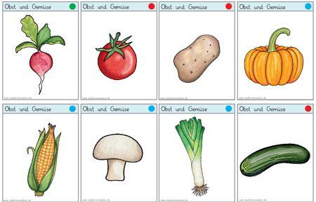 Vokabelkarten obst und gemuese zaubereinmaleins designblog - Obst und gemuseplatte fur kindergarten ...