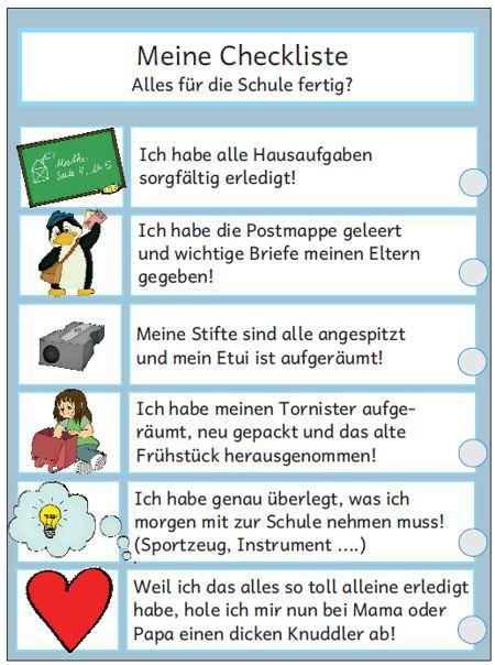 Arbeitsblatt Runden Grundschule : Checkliste schule zaubereinmaleins design