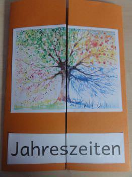 Four Seasons Tree Acrylic Painting Scripture 5