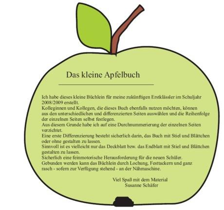 Apfelbuechlein Fuer Schulanfaenger Zaubereinmaleins Designblog