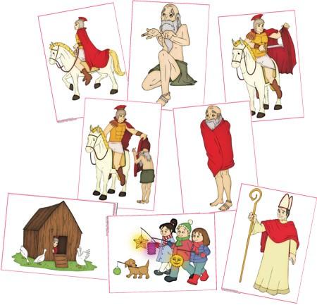 Sankt Martin Illustrationen Zaubereinmaleins Designblog