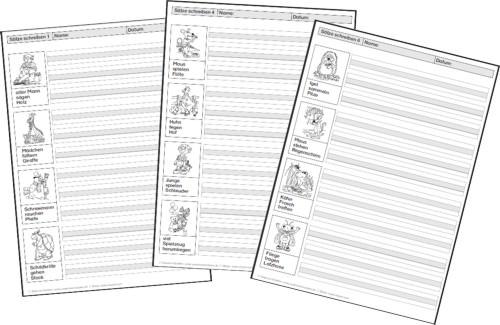 Arbeitsblatt Vorschule deutsche sätze bilden : saetze-bilden-saetze-schreiben-kopiervorlagen - Zaubereinmaleins - DesignBlog