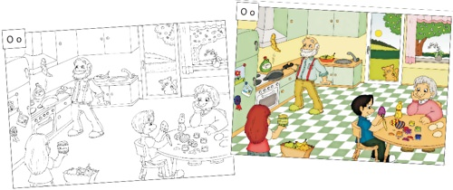 arbeitsblatt vorschule 187 geschichten weiterschreiben foto