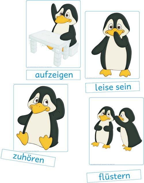 Grundregeln pinguin klasse zaubereinmaleins designblog - Pinguin basteln vorlage ...