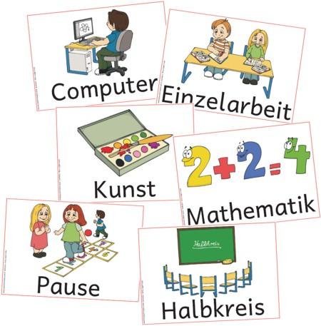 Sitzkreis grundschule  tagestransparenzsymbole - Zaubereinmaleins - DesignBlog